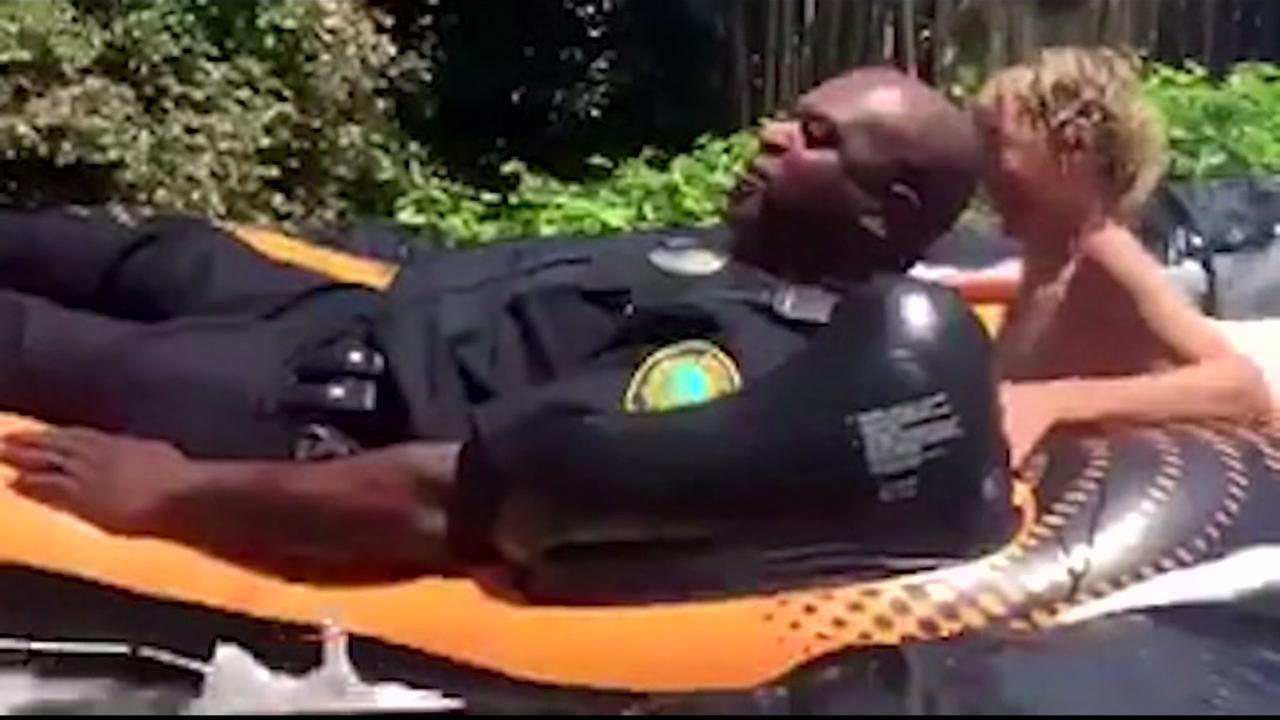 Cops join Slip N Slide party after noise complaint