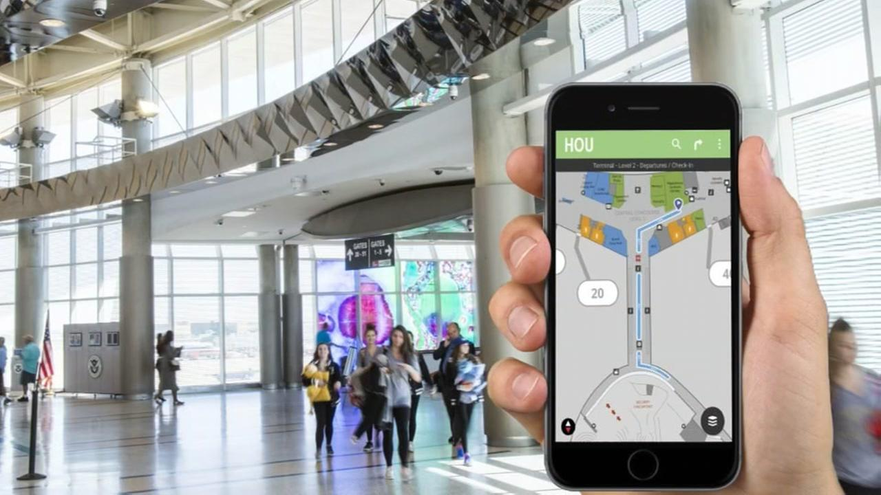Houston airports launch new way-finding tool for fly2houston.com.