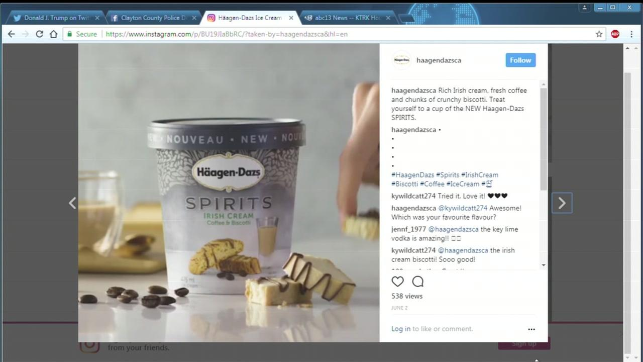 Haagen-Dazs new alcohol-filled flavors