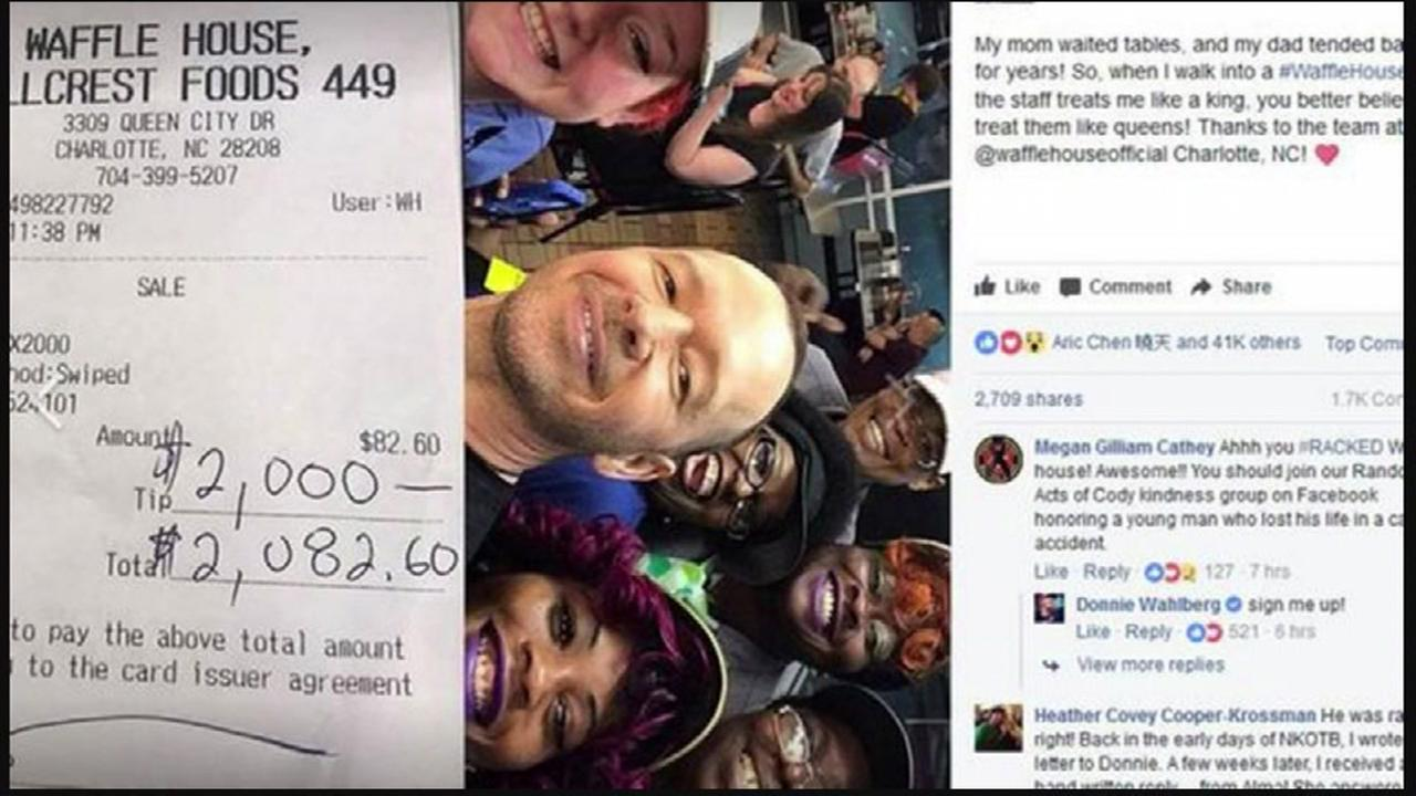 New Kids on the Blocks Donnie Wahlberg leaves $2K tip at Waffle House