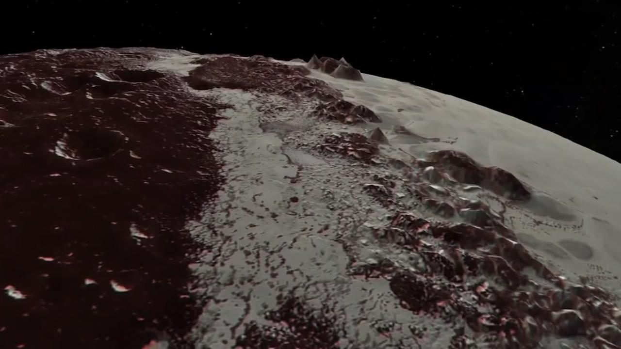 NASA video shows icy plains on Pluto