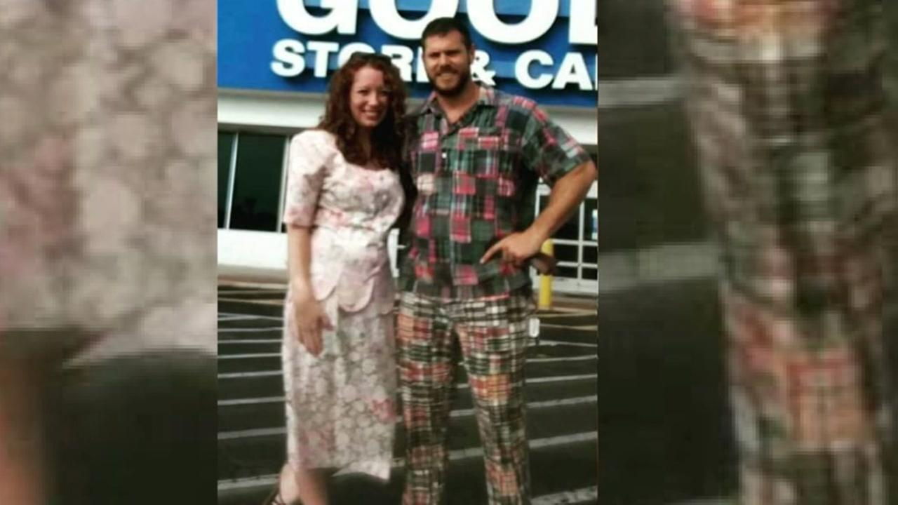 Couple picks date night outfits from Goodwill and inspires social media trend.