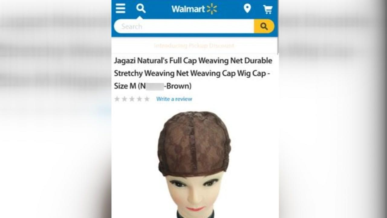 Walmart apologizes for racial slur in product description for weaving cap