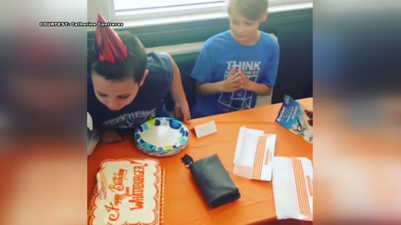 Whataburger throws birthday party for boy with autism