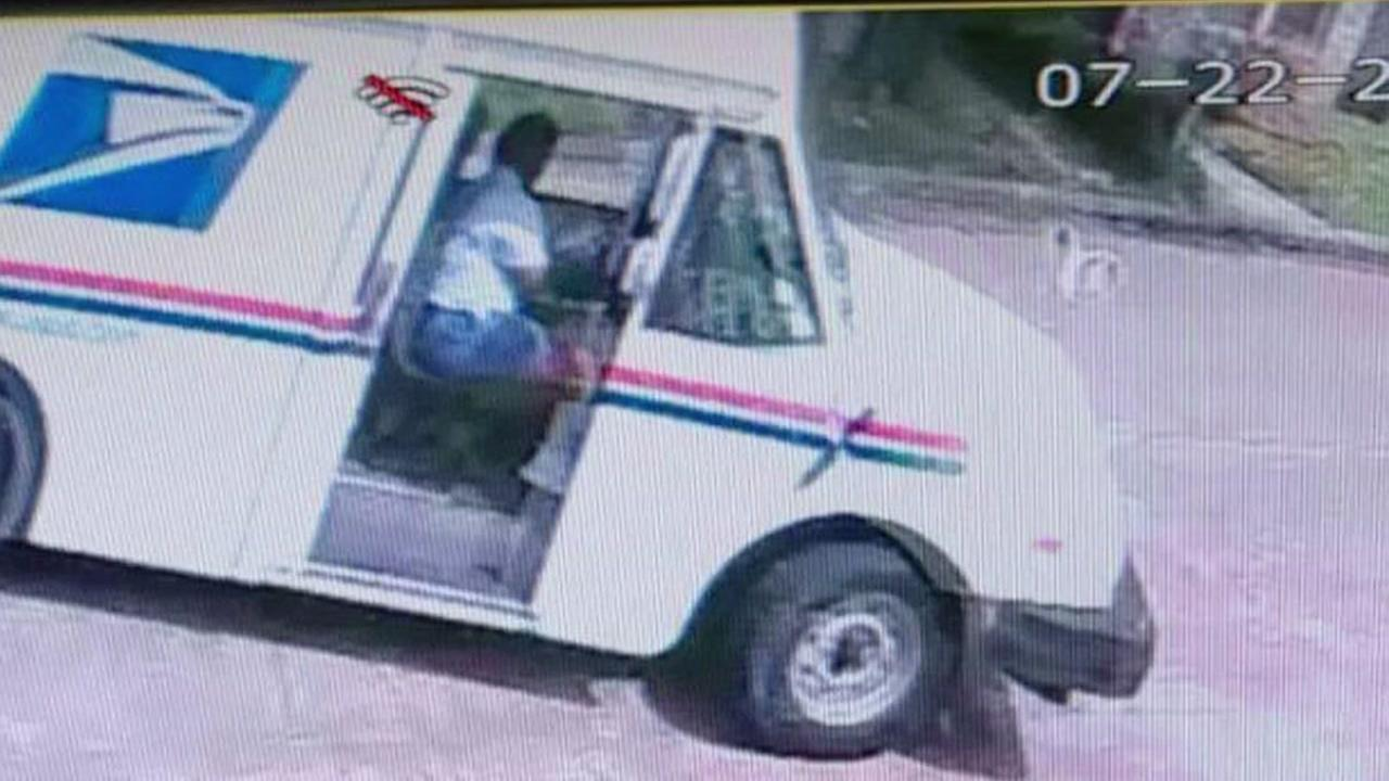 USPS employee caught on camera destroying fence and then leaving