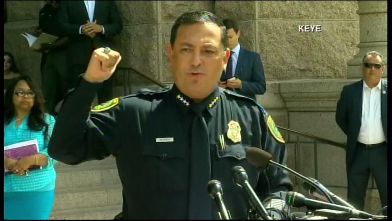 HPD Chief Art Acevedo speaks against the proposed bathroom bill, in Austin