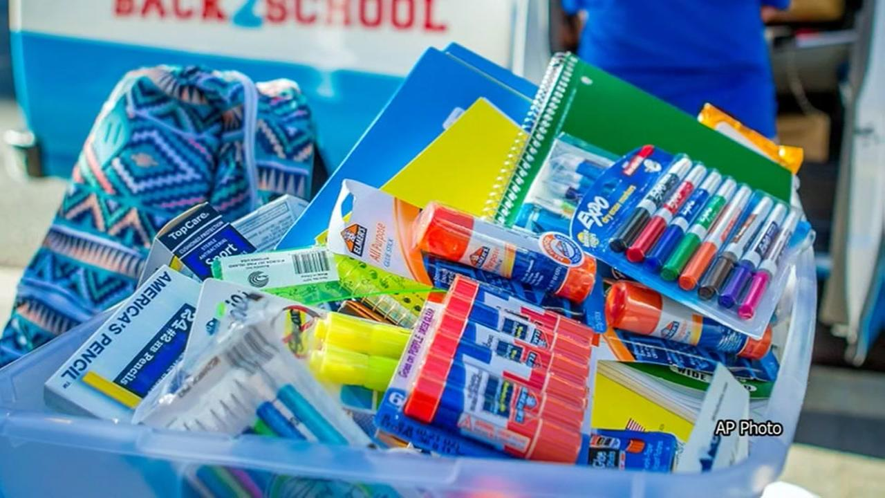 1st of 4 school supply giveaways happening today
