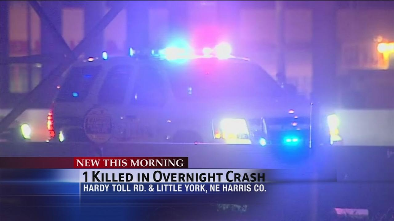 One person killed in overnight wreck