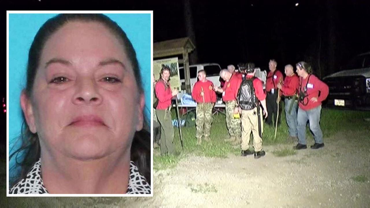 Missing woman in Sam Houston National Forest