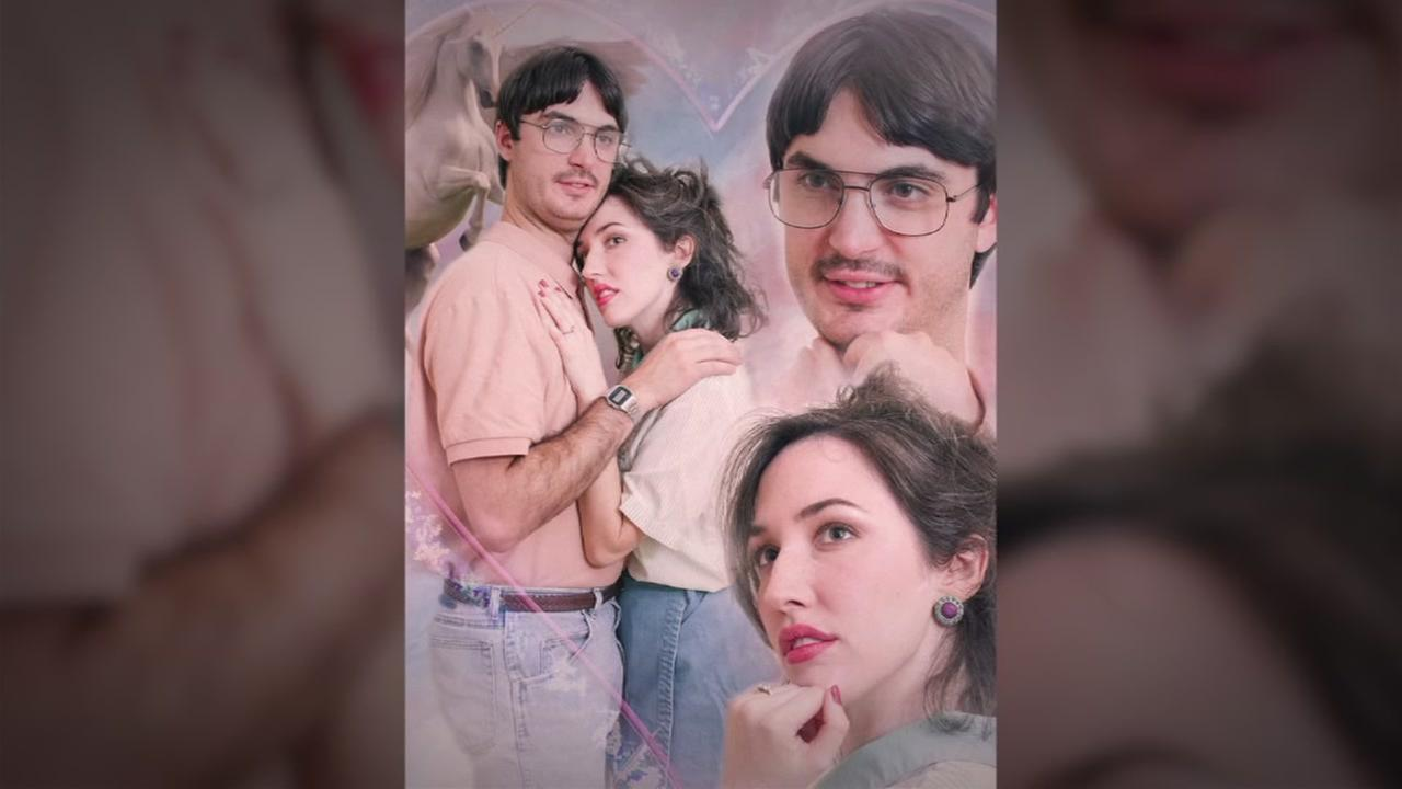 Couple takes cheesy, 80s-themed engagement pictures