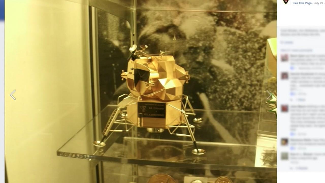 Gold replica of lunar module stolen from museum