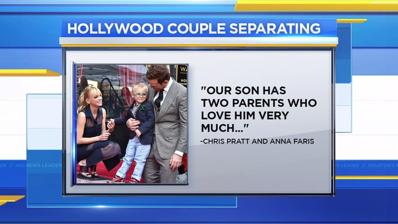 Chris Pratt and Anna Faris announce they are separating
