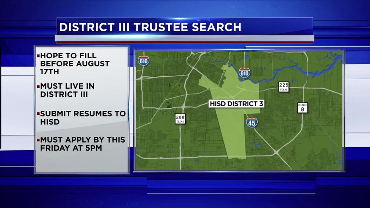 HISD District III trustee search underway
