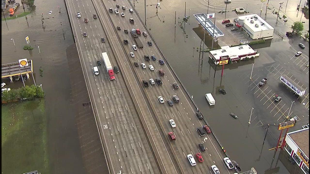 Skyeye 13 over flood waters
