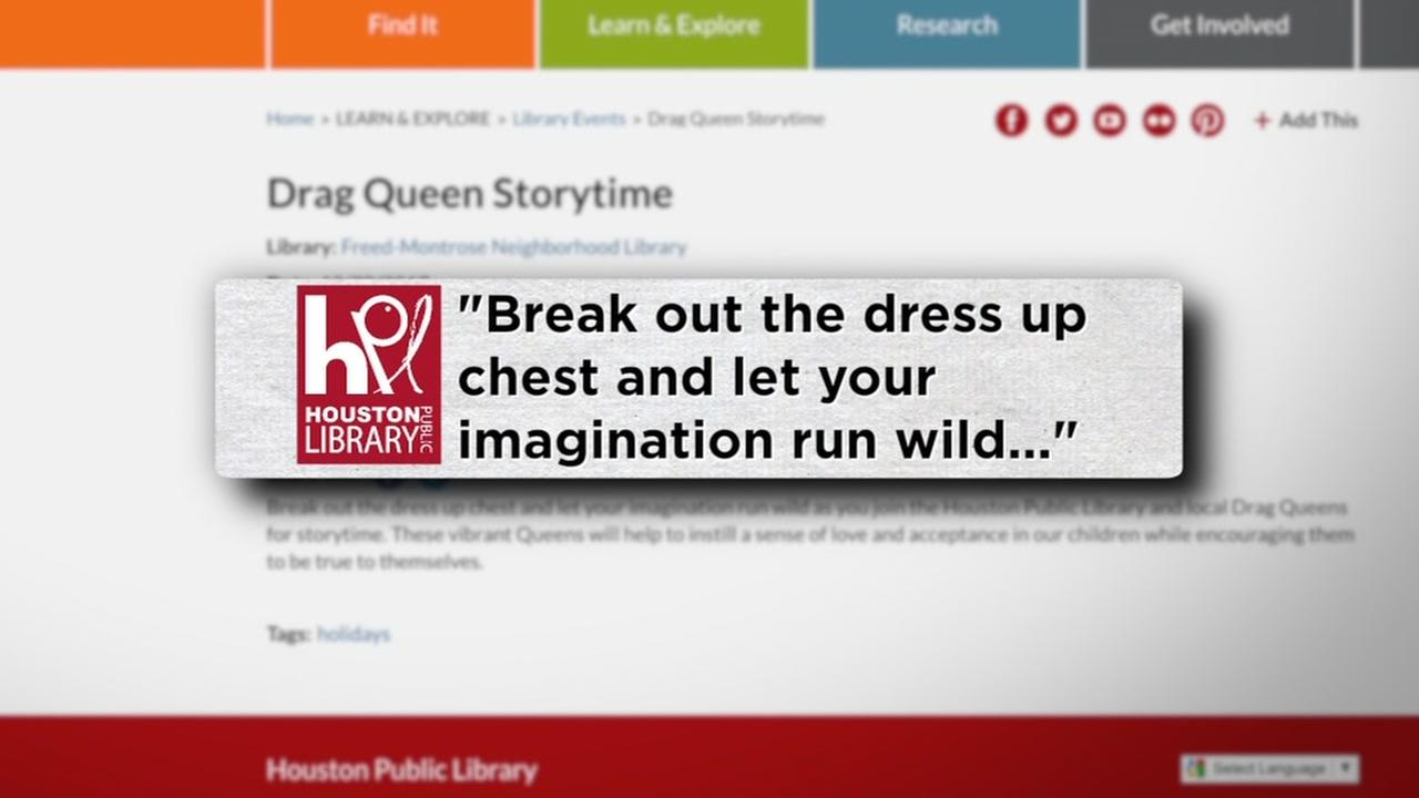 Drag queens to read stories at Houston Public Library