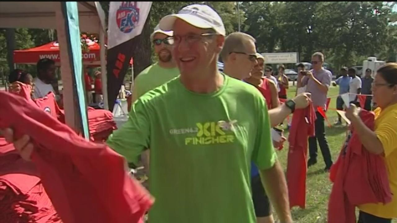 Marathon party held at Memorial Park