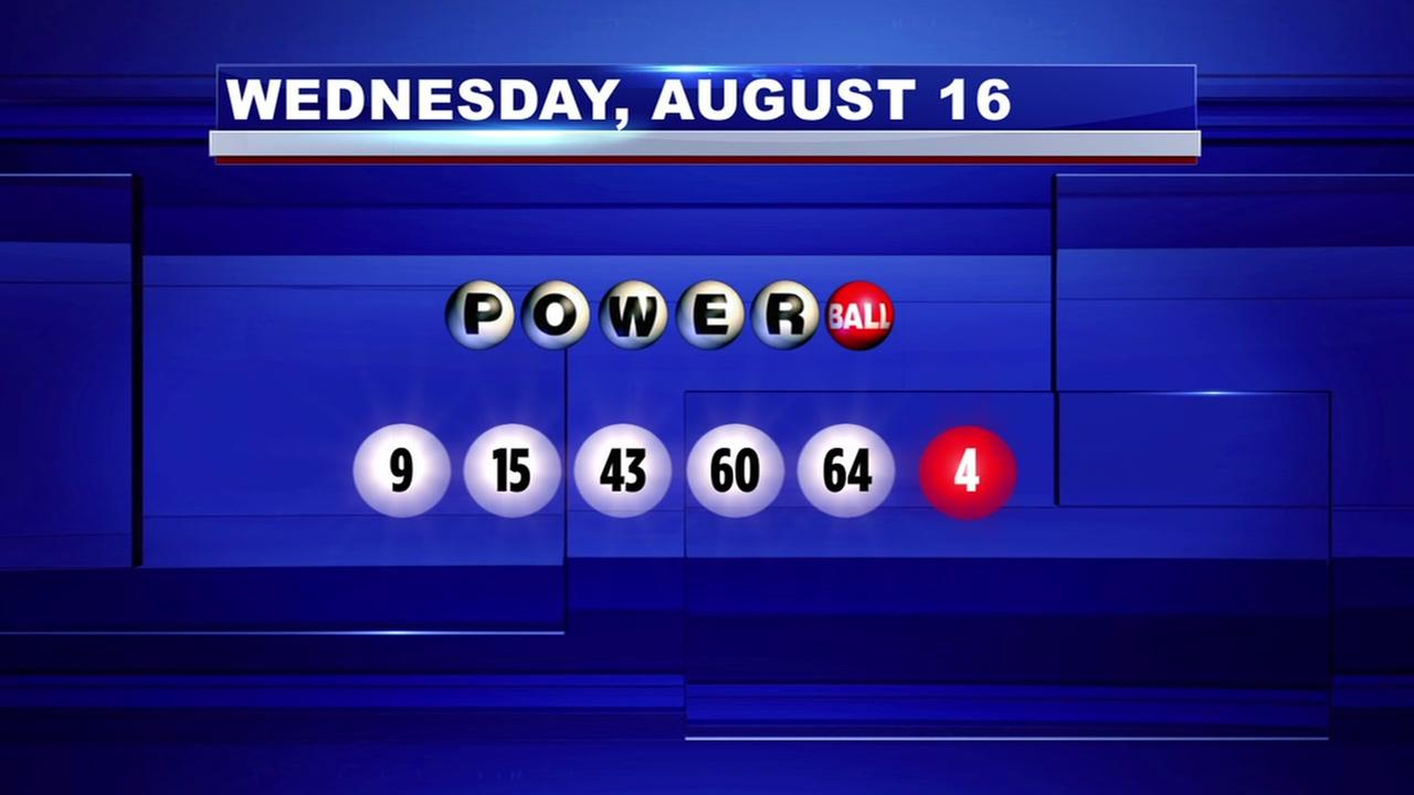 Winning numbers drawn for Powerball