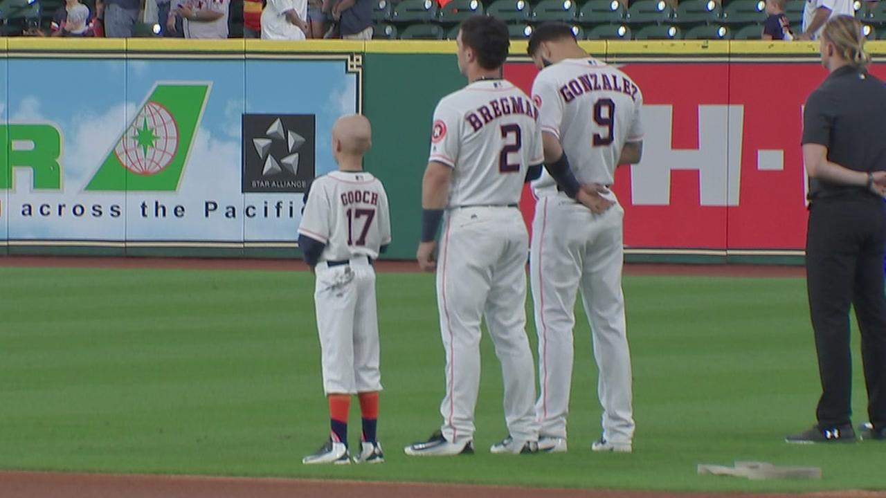 9-year-old cancer patient becomes Houston Astro for a day