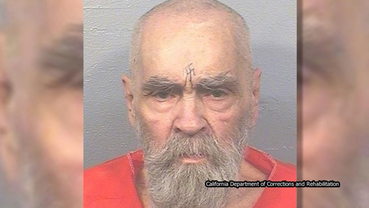 Charles Manson seen in newly released mugshot