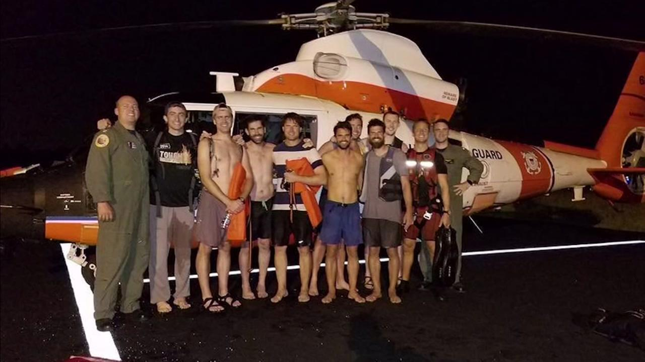 Coast Guard rescues stranded bachelor party on boat