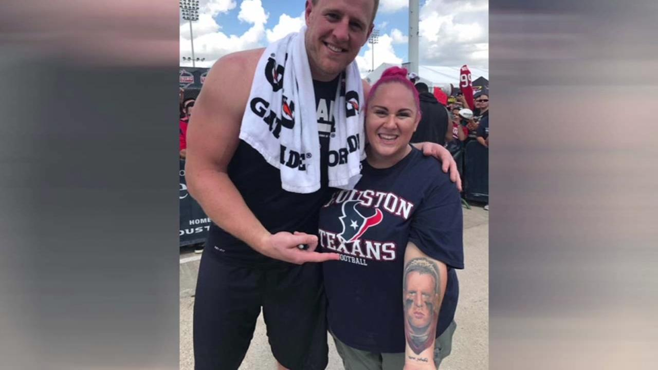 Watt-you-say! Local woman gets J.J. Watts face tattooed on arm