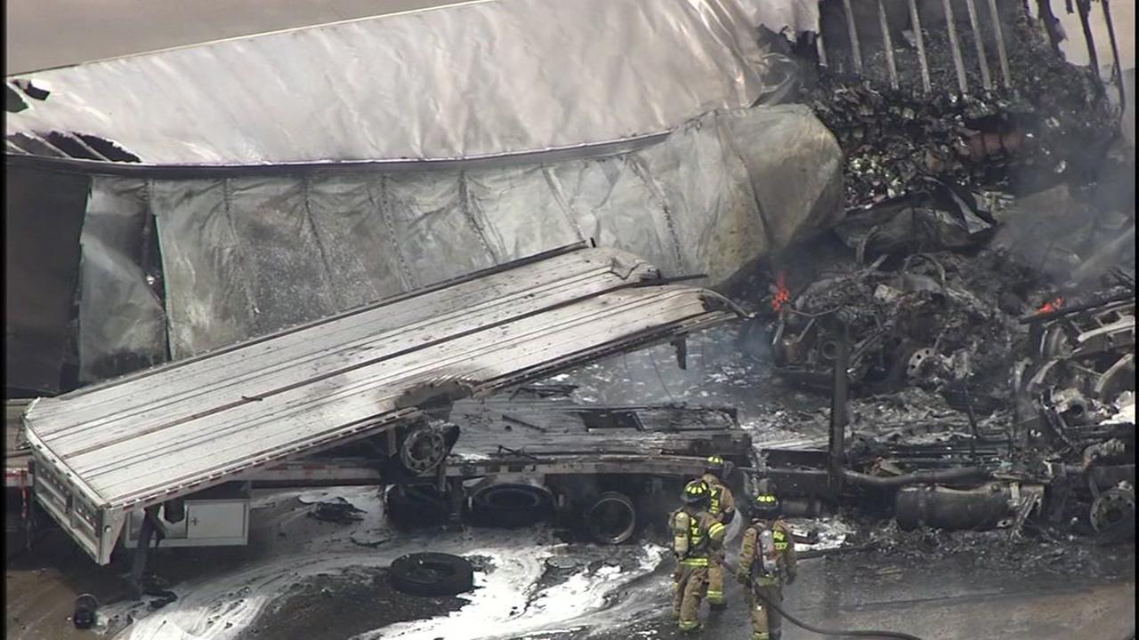 Big rig accident blocks I-10