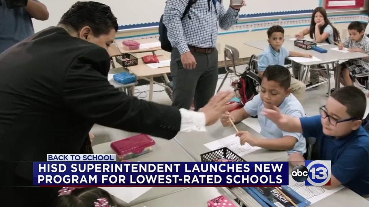 HISD superintendant launches new program for lowest rated schools