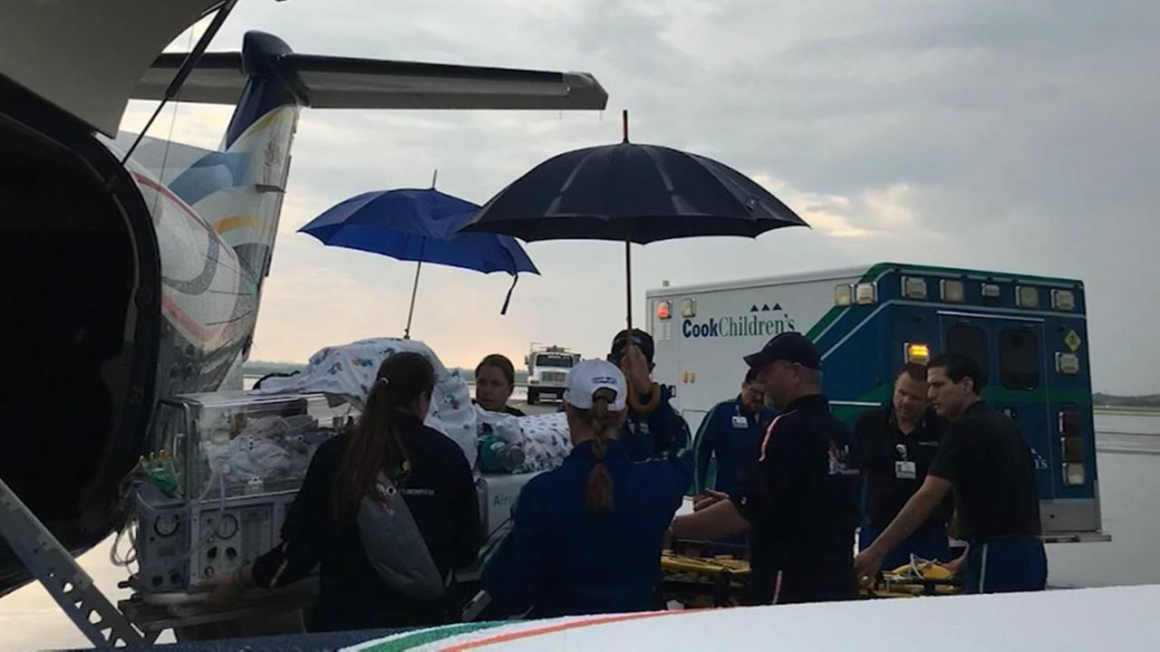 Babies in NICU evacuated from Hurricane Harveys path
