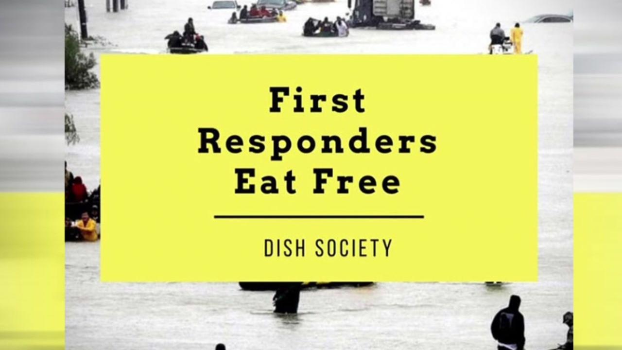 Dish Society has free food for first responders