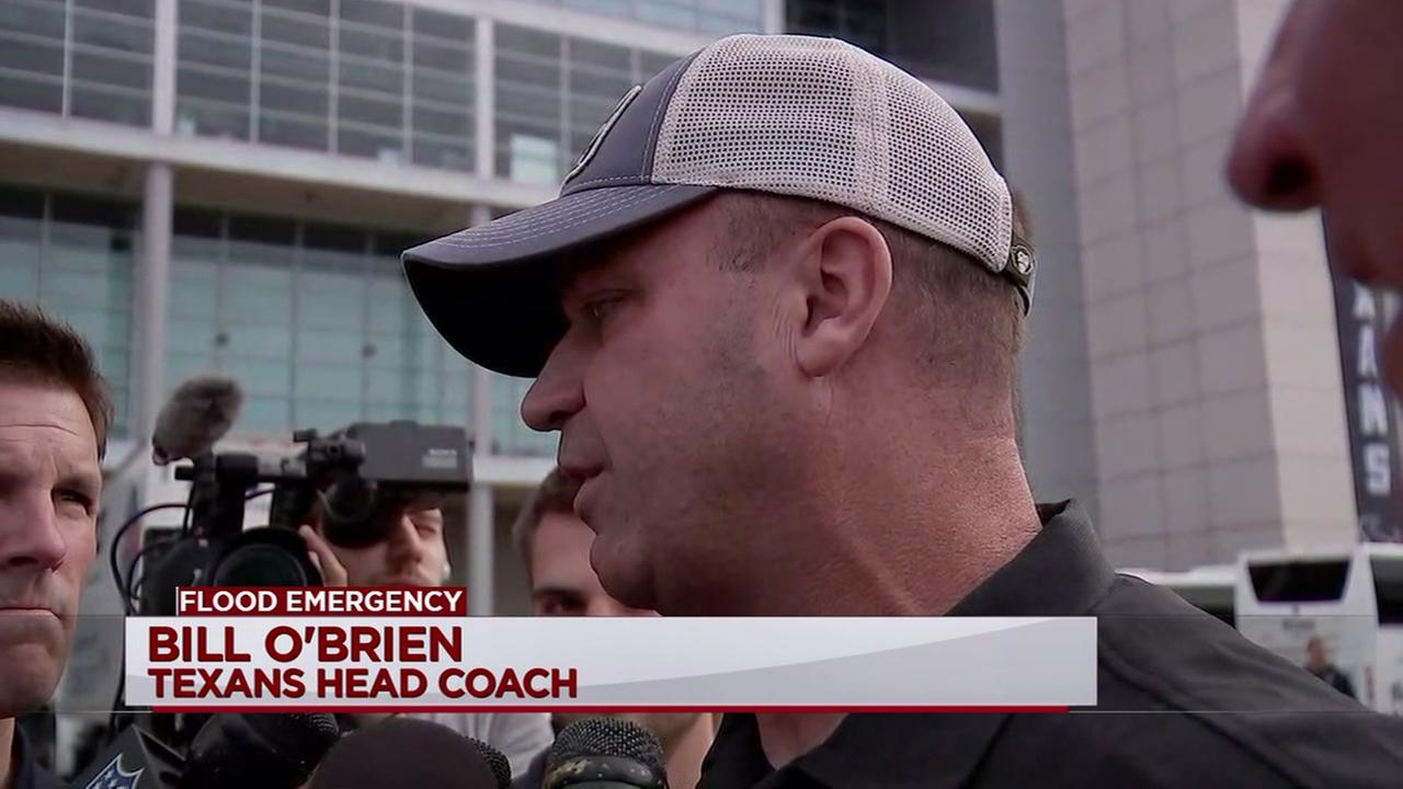 Coach OBrien reacts to Texans returning to Houston