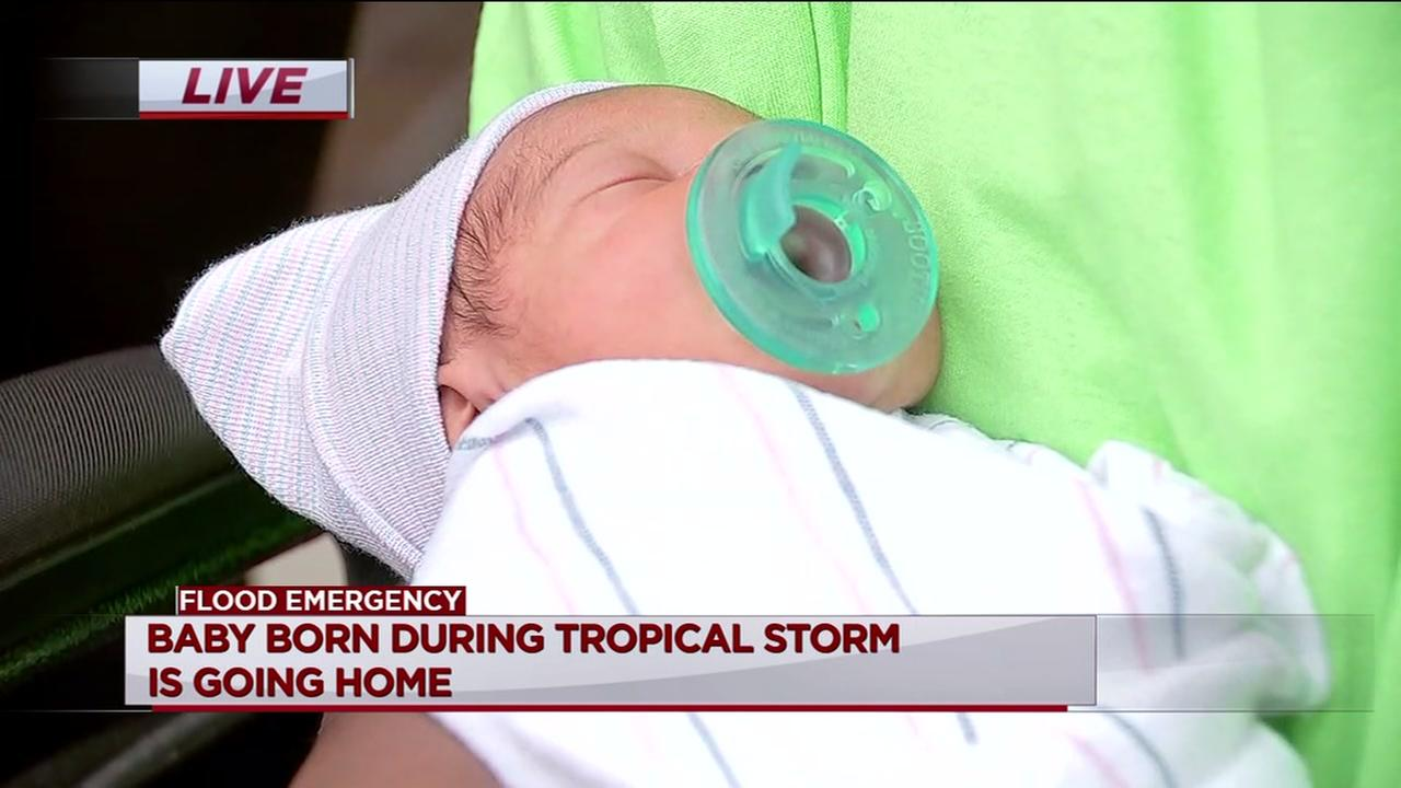 Pregnant woman rescued during Hurricane Harvey has baby