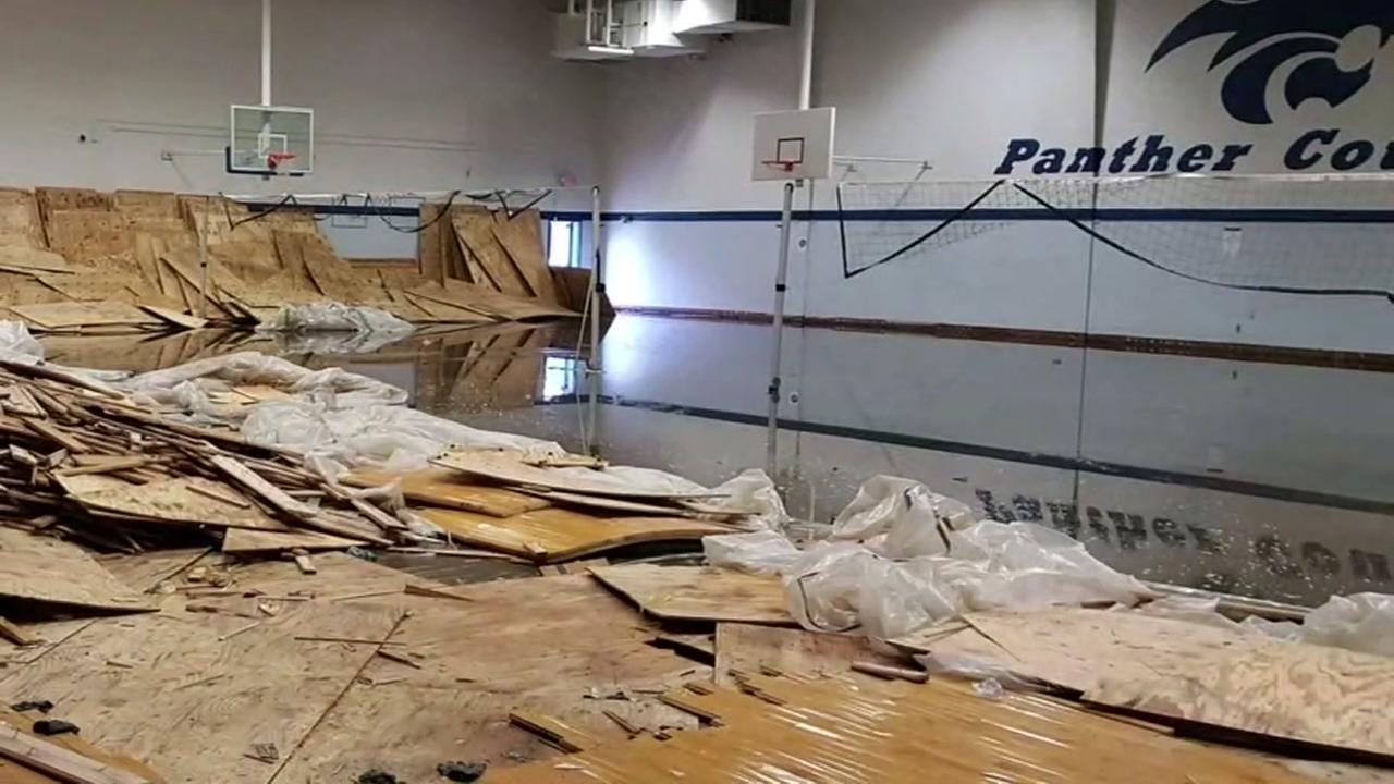 First look at extensive damage at C.E. King HS