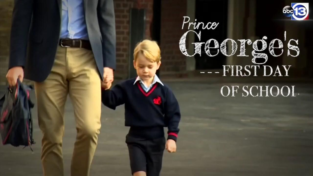 Prince Georges first day of school