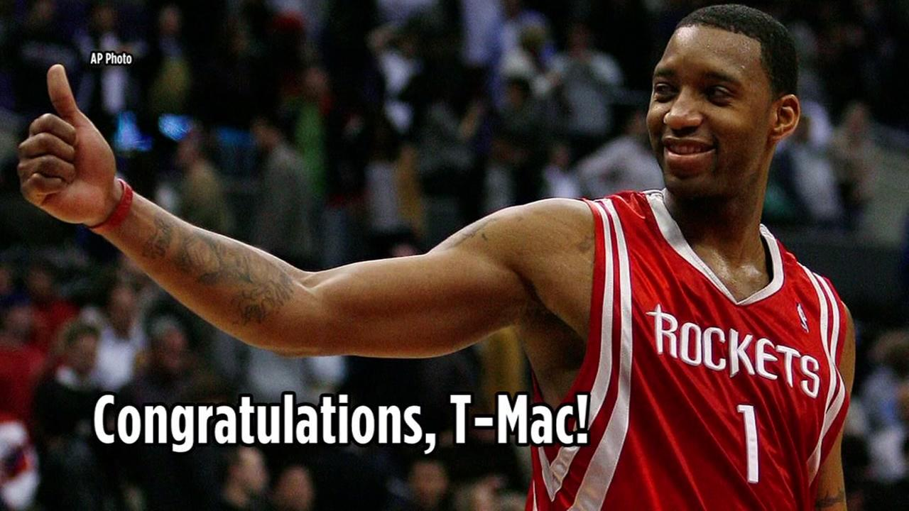 Former Houston Rocket Tracy McGrady enters Basketball Hall of Fame