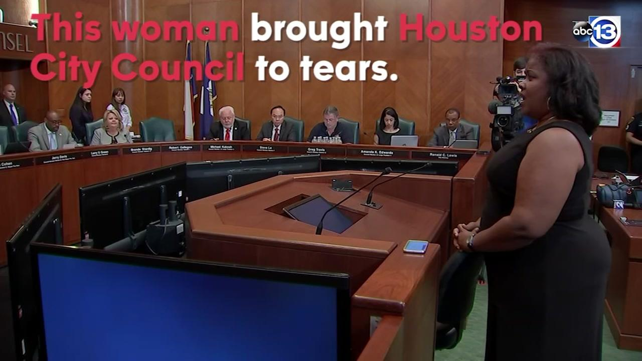 Woman brings Houston City Council to tears