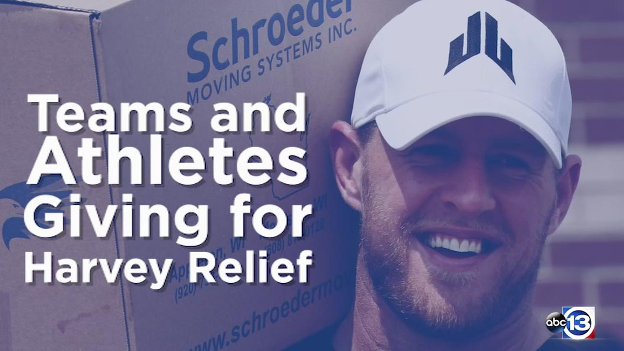 Teams and athletes giving for Harvey relief