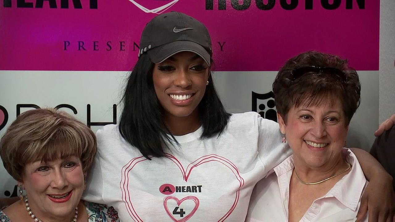 Reality star Porsha Williams hosts donation drive in Houston for storm victims