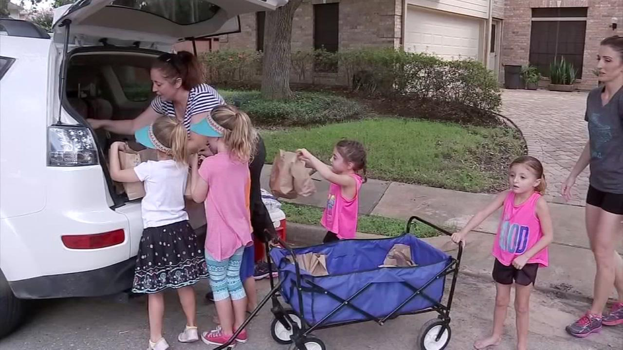Stay-at-home moms give back to Harvey victims