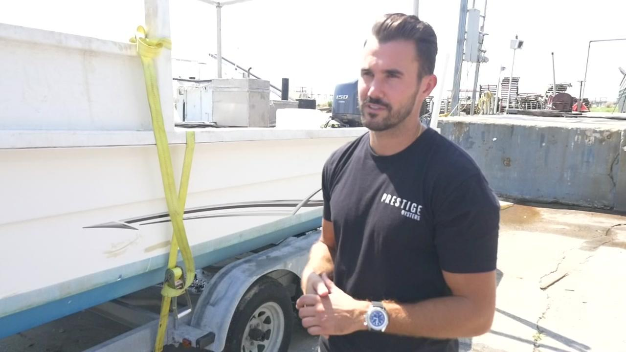Raz Halili describes boat he used to rescue Harvey victims