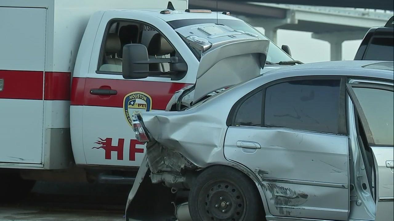 Ambulance Gulf Fwy crash