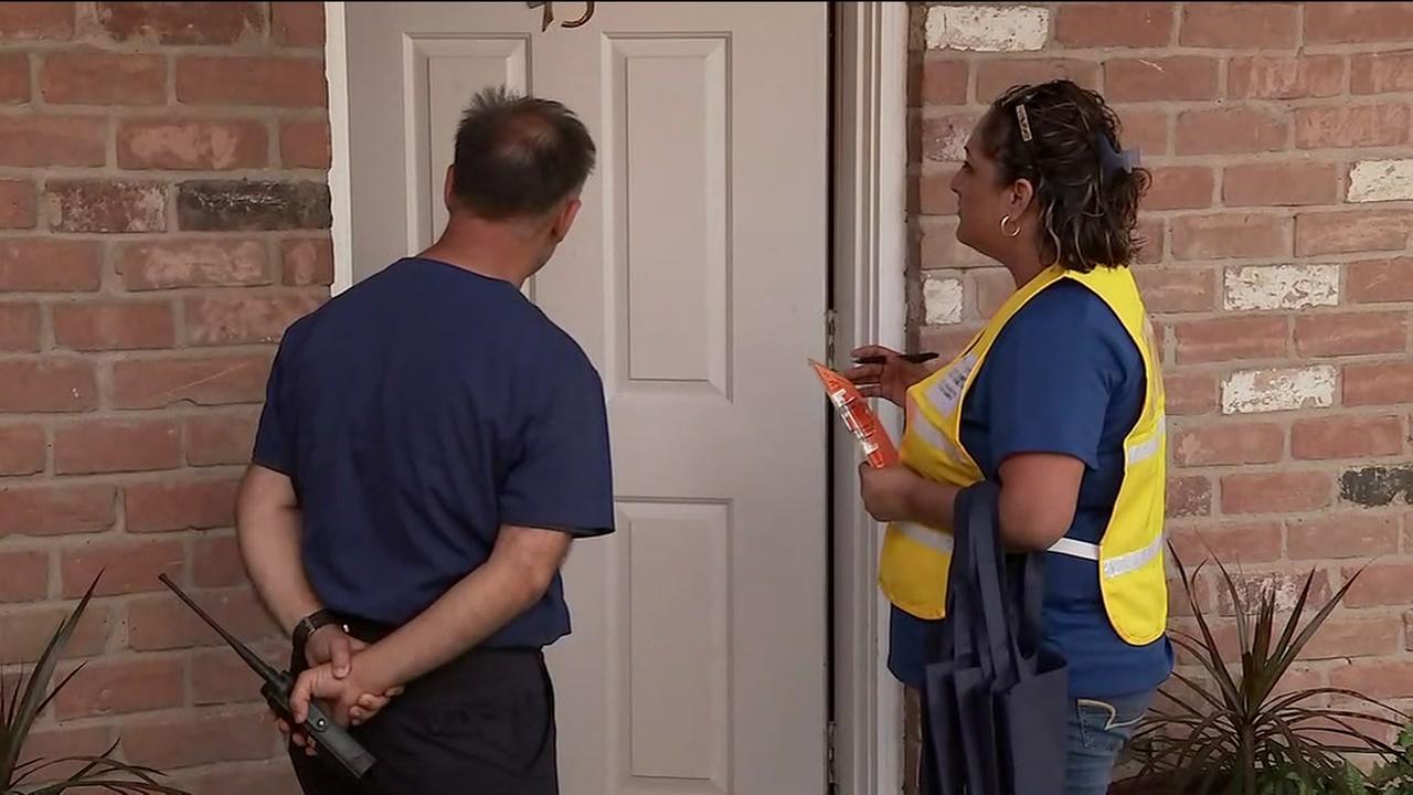 County inspectors go door to door in Harvey