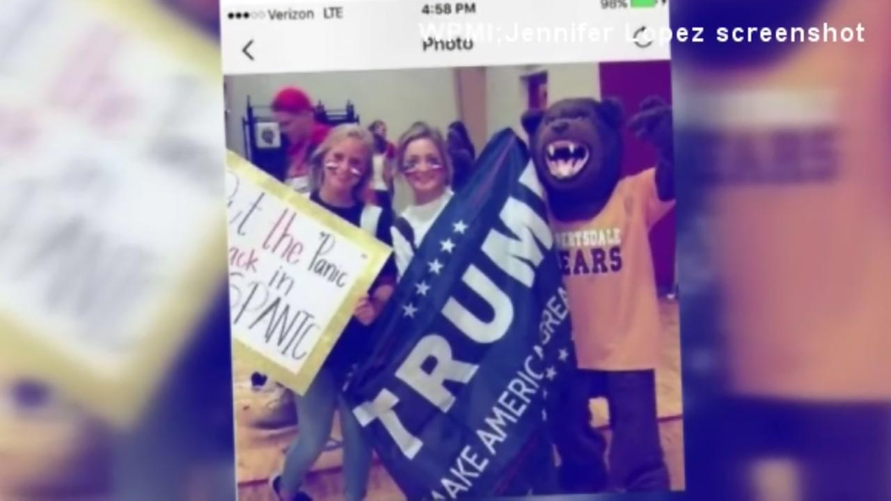 Pep rally sign accused of racism, bullying