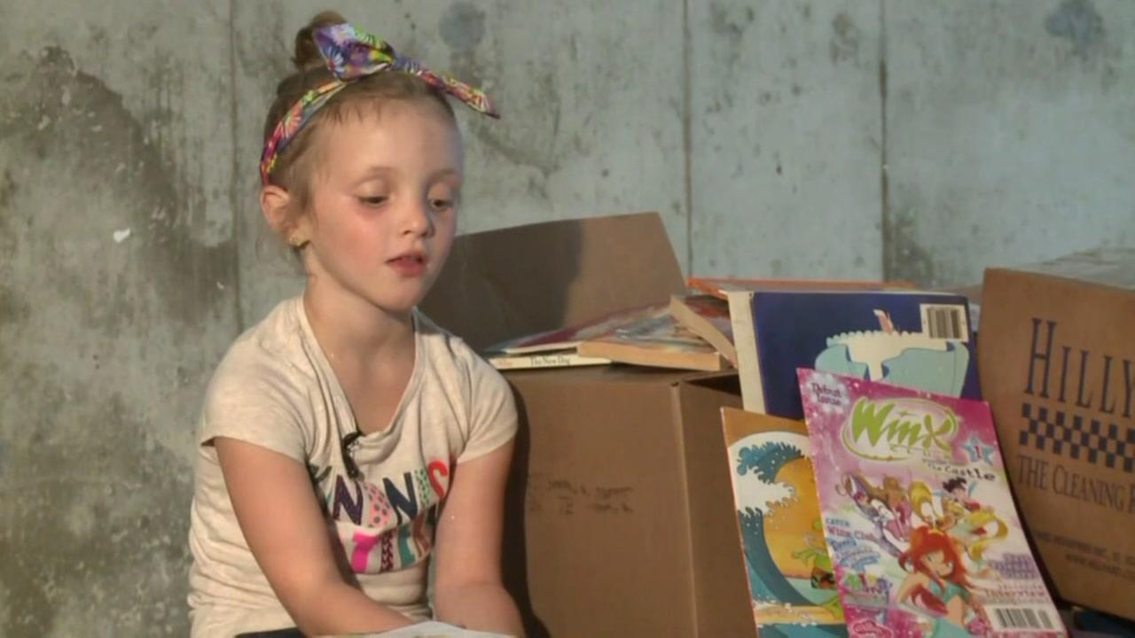 Girl collects books to send to hurricane victims