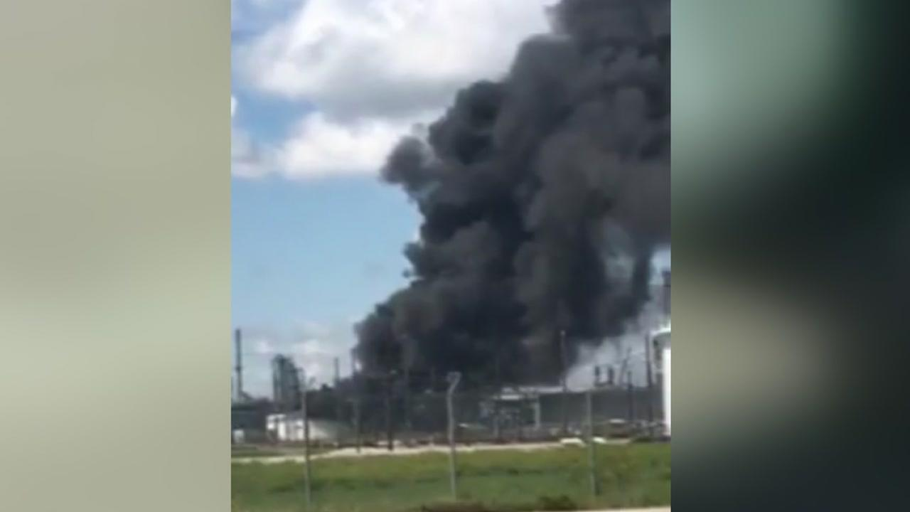 Large fire reported at Valero refinery in Port Arthur