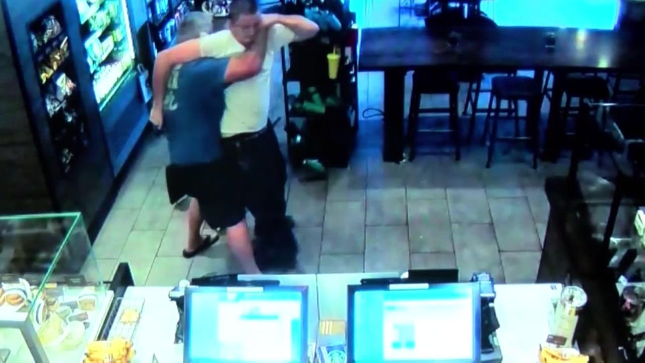 Suspect in Starbucks armed robbery may sue good samaritan.