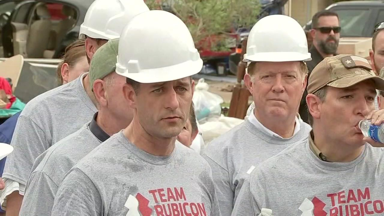 Speaker Paul Ryan tours flood-damaged neighborhoods