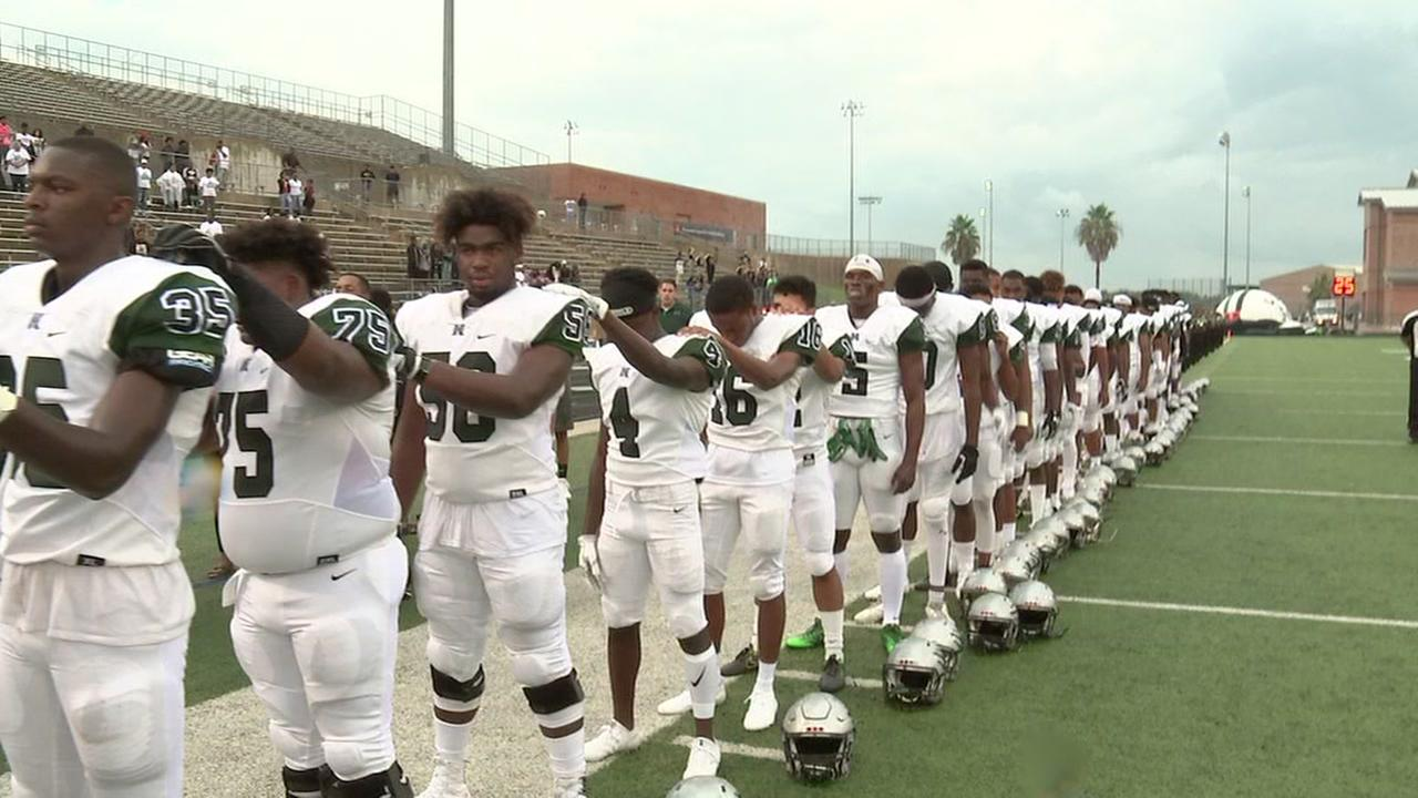 Moment of silence held at Marshall/Hightower game
