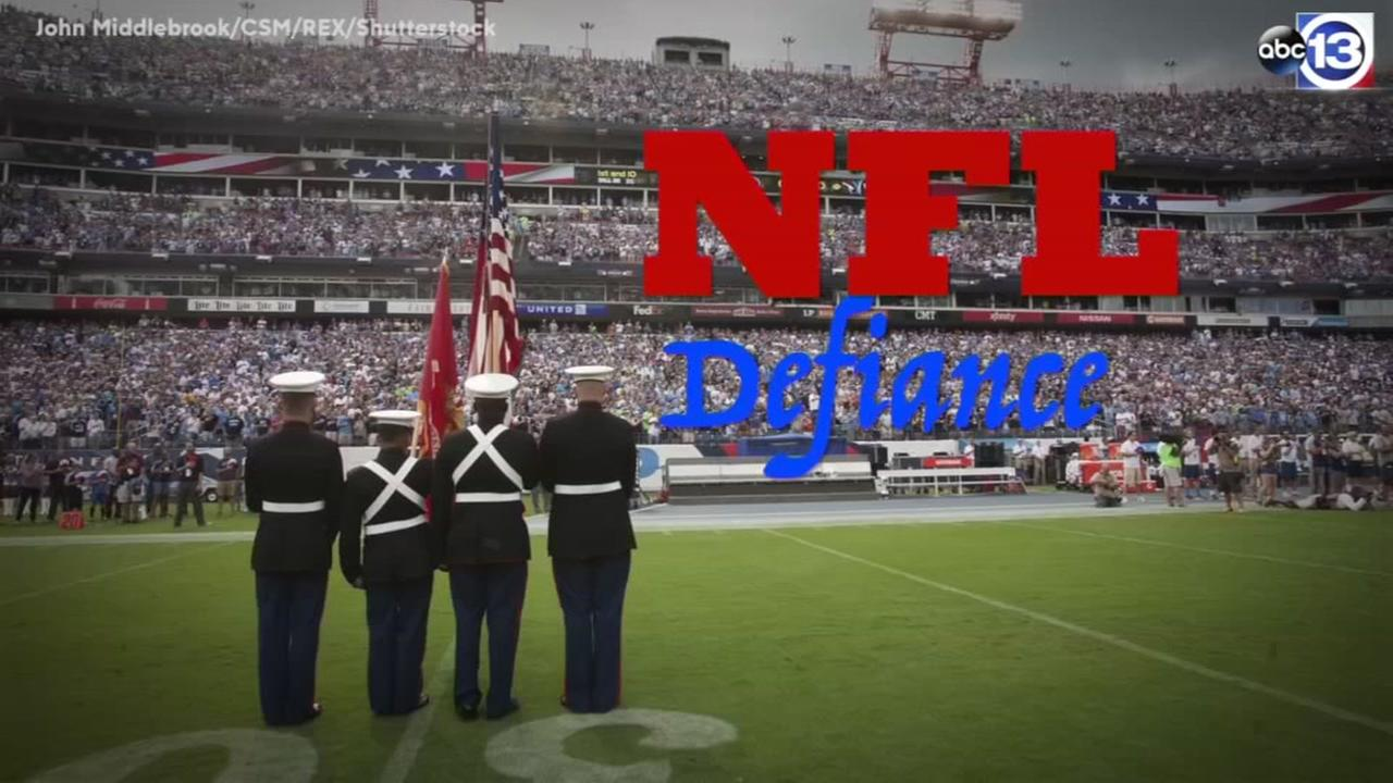 National Anthem protest grows in the NFL