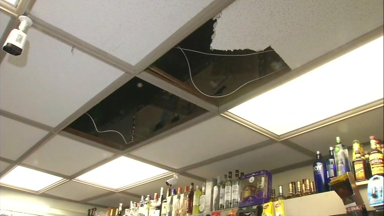 Bizarre story behind this hole in the ceiling