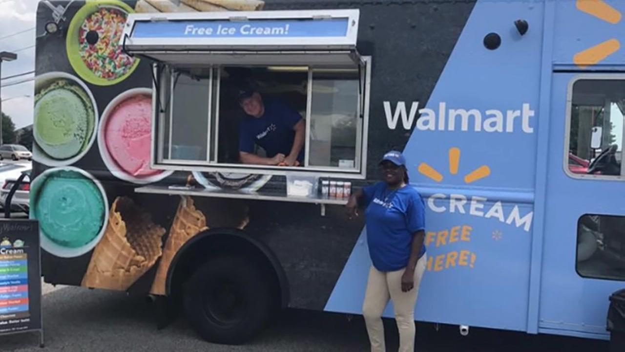 Free Walmart food trucks